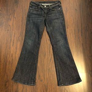 Citizens of humanity jeans low flare stretch sz 26
